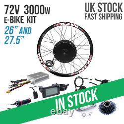 Uk 72v 3000w Vélo Électrique Arrière Hub Kit De Conversion De Moteur E-bike Roue