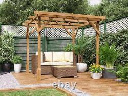 Utopia En Bois Pergola Garden Kit Plants Cadre W2m X D2m (6' 6 X 6' 6)