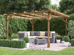 Utopia En Bois Pergola Garden Kit Plants Cadre W3m X D3m (9' 10 X 9' 10)