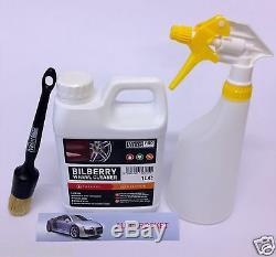 Valet Pro Wheel Cleaner Myrtille Spray Kit 1 Litre Sans Danger Pour Les Alliages Et Sans Acide