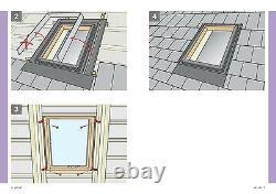 Velux Vlt Conservation Access Loft Roof Window 45x55 CM Skylight + Kit Clignotant