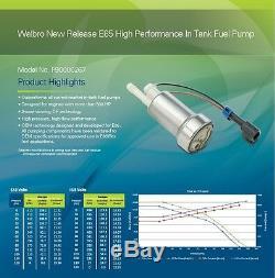 Véritable Walbro / Ti E85 Racing Pompe À Essence F90000267 450lph & 400-1168 Kit Tia485