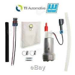 Véritable Walbro / Ti F90000267 450lph Haute Performance E85 Pompe À Essence + Kit + Flex Tuyau