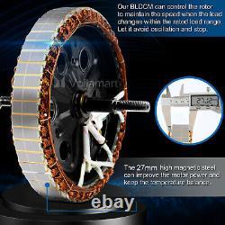 Voilamart 48v1000w Kit De Conversion De Moteur De Vélo Électrique E-bike Roue Avant 26