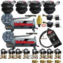 Voltairmaxxx Dc100compressors 1/2 Vannes Air Ride 2600 Sacs 7 Contrôleur De Commutation