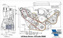 Vortech V-3 Si Supercharger Ls-swap Efi Chevrolet Kit C5 / C6 Corvette Fead Ls2