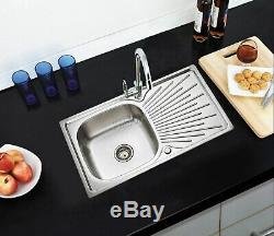 Westwood Cuisine En Acier Inoxydable Évier Comprend Plomberie Complète Kit 1.0 1.5