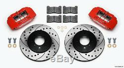 Wilwood Disc Brake Kit, Remplacement Stock Avant, Honda, Rotors Forée, Red Calibres