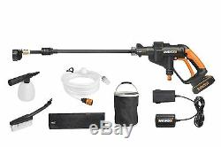 Worx Wg629e. 1 Hydroshot 18v (20v Max) Un Kit De Nettoyage De Pression Sans Fil