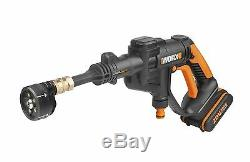 Worx Wg629e. 8 Hydroshot 18v Sans Fil Kit De Nettoyage Sous Pression Avec Adaptateur Bouteille