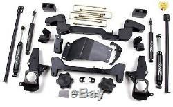 Zone Offroad C4n 6 Suspension Kit Complet De Levage Pour 01-10 Chevrolet Gmc 2500 / 3500hd