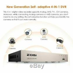 Zosi Système Cctv 8ch 1080n Dvr Enregistreur Home Extérieur Kit Système De Caméra De Sécurité